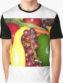 Fruit and Veggies Graphic T-Shirt
