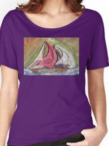 Ships Ahoy Aurora Borealis  Women's Relaxed Fit T-Shirt