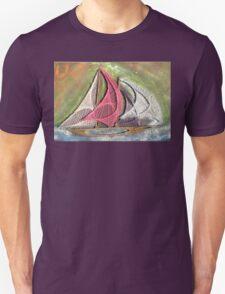 Ships Ahoy Aurora Borealis  Unisex T-Shirt