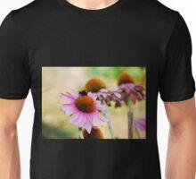 Echinacea Purpurea with Bee  Unisex T-Shirt