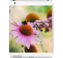 Echinacea Purpurea with Bee  iPad Case/Skin
