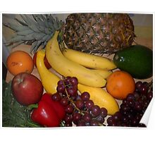 Grapes Pepper Banana and Pineapple Poster
