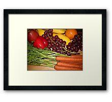 Carrots Pepper Banana and Orange Framed Print