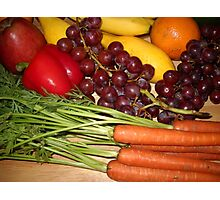 Carrots Pepper Banana and Orange Photographic Print