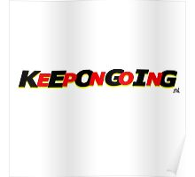 KeepOnGoing - Red Design Poster