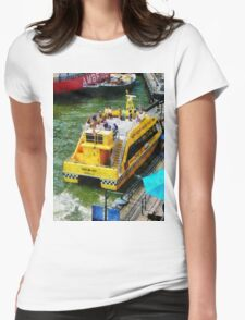 Water Taxi At South Street Seaport Womens Fitted T-Shirt