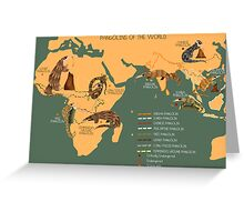 The Pangolin Map of the World Greeting Card