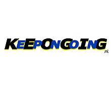 KeepOnGoing - Blue Design by Vincent J. Newman