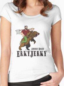 Erky Jerky - Absurdly Rugged Women's Fitted Scoop T-Shirt