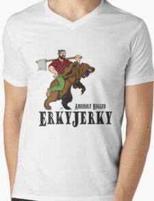 Erky Jerky - Absurdly Rugged Mens V-Neck T-Shirt