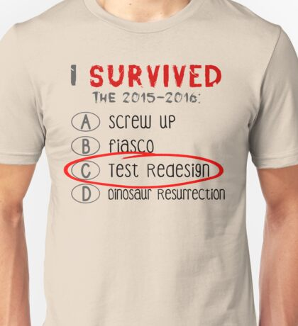 I Survived...The Test Redesign T-Shirt
