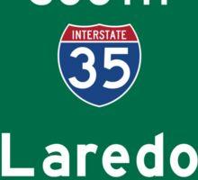 Laredo, Road Sign, Texas Sticker
