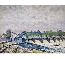 Alfred Sisley - Molesey Weir, Hampton Court   Impressionism  Landscape  Photographic Print