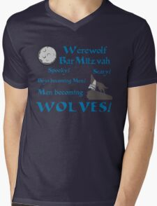 Werewolf Bar Mitzvah Mens V-Neck T-Shirt