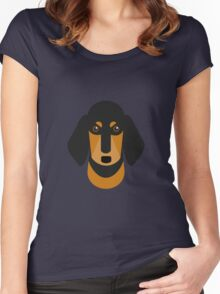 Sausage Dog Women's Fitted Scoop T-Shirt