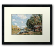 Alfred Sisley - Moret The Banks of the River Loing  Impressionism  Landscape  Framed Print
