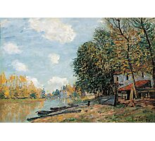 Alfred Sisley - Moret The Banks of the River Loing  Impressionism  Landscape  Photographic Print