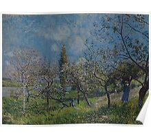 Alfred Sisley - Orchard in Spring  Impressionism  Landscape  Poster