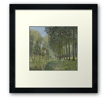 Alfred Sisley - Rest along the Stream. Edge of the Wood  Impressionism  Landscape  Framed Print