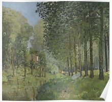 Alfred Sisley - Rest along the Stream. Edge of the Wood 1878 Poster