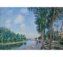 Alfred Sisley - Saint-Mammes. June Sunshine French Impressionism Landscape Photographic Print