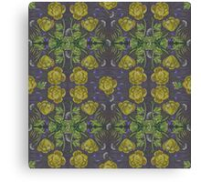 Marsh marigold - pastels on graphic paper Canvas Print