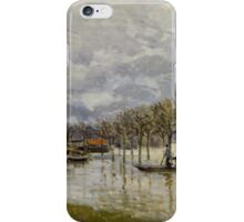 Alfred Sisley - The Flood on the Road to Saint-Germain  French Impressionism Landscape iPhone Case/Skin