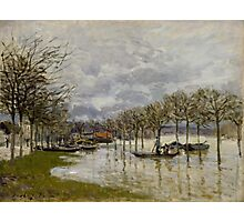 Alfred Sisley - The Flood on the Road to Saint-Germain  French Impressionism Landscape Photographic Print