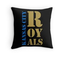 Kansas City Royals typography Throw Pillow