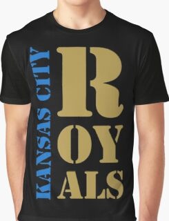 Kansas City Royals typography Graphic T-Shirt