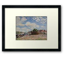 Alfred Sisley - The Loing at Saint-Mammes 1885 French Impressionism Landscape Framed Print