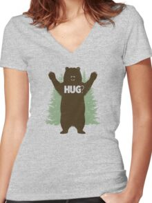 Bear Hug (Reworked) Women's Fitted V-Neck T-Shirt