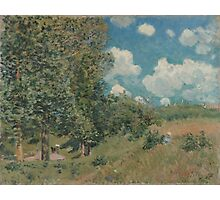 Alfred Sisley - The Road from Versailles to Saint-Germain  French Impressionism Landscape Photographic Print