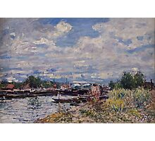 Alfred Sisley - The Seine at Billancourt   French Impressionism Landscape Photographic Print