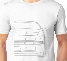rx7 outline - black Unisex T-Shirt