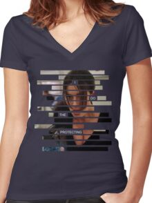 Shaw - Person of interest - Quote Women's Fitted V-Neck T-Shirt