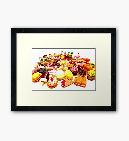 Eraser Fun Framed Print