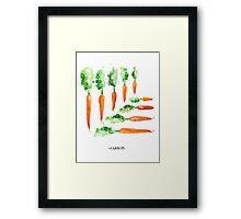 Carrot Matrix Framed Print