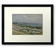 Alfred Sisley - The Terrace at Saint-Germain, Spring 1875 French Impressionism Landscape Framed Print