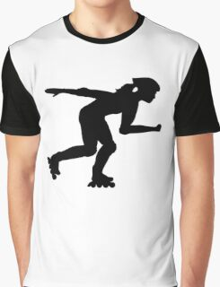 Inline skating girl Graphic T-Shirt