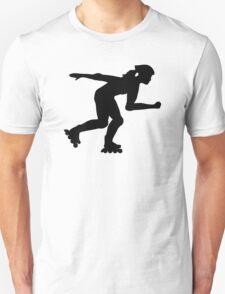Inline skating girl Unisex T-Shirt