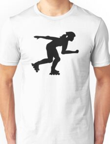 Inline skating girl Unisex T-Shirt