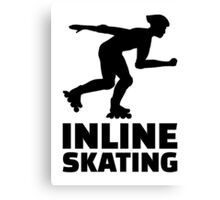 Inline skating Canvas Print