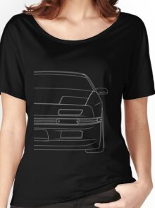 rx7 outline - white Women's Relaxed Fit T-Shirt