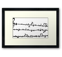 Barbwire Stave Framed Print