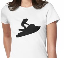 Jetski woman Womens Fitted T-Shirt