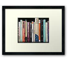 Joy Division Bookshelf Framed Print