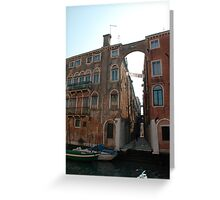 Arched Backstreet, Venice Greeting Card