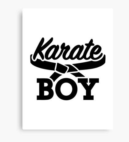 Karate boy Canvas Print