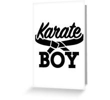 Karate boy Greeting Card
